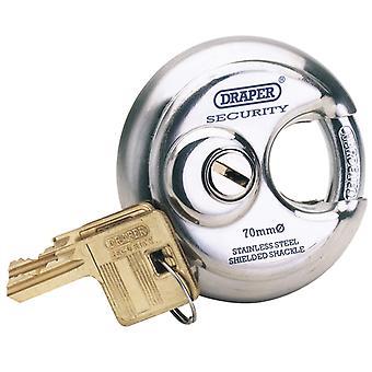 Expert 70mm Diameter Stainless Steel Padlock and 2 Keys - 8316/70