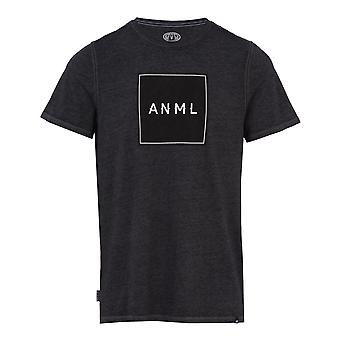 Animal Noah Short Sleeve T-Shirt in Dark Charcoal Marl