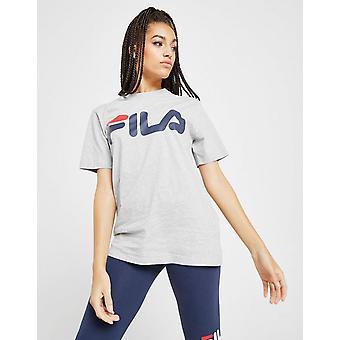 New Fila Women's Core Logo Boyfriend Short Sleeve T-Shirt Grey
