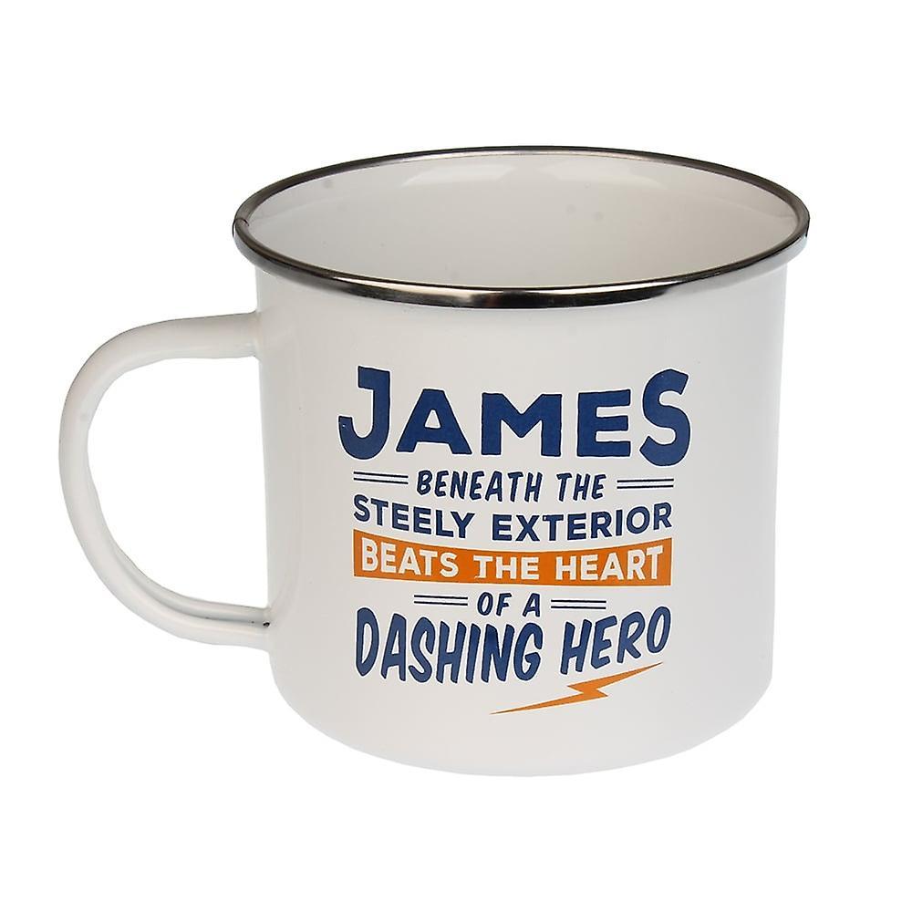 History & Heraldry James Tin Mug 49