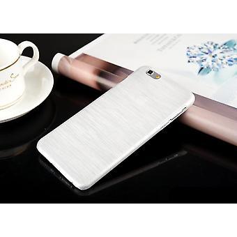 Mobile shell brushed aluminum Iphone plastic White