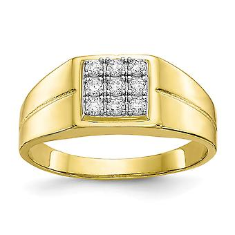 3 To 10mm 10k Mens CZ Cubic Zirconia Simulated Diamond Ring Jewelry Gifts for Men