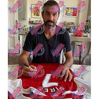 Arsenal Pires Signed Shirt