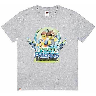 Lego Movie 2 Ragazzi T-Shirt Emmet e Rex Vest Friends Kids Top