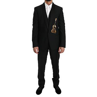 Dolce & Gabbana Black Wool 3 Piece Sequin Gitaarpak