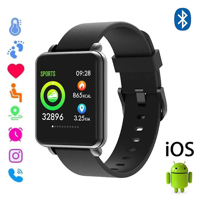 COLMI Country 1 Smartwatch Smartband Smartphone Fitness Sport Activity Tracker Watch OLED iOS Android iPhone Samsung Huawei Black Silicone Strap