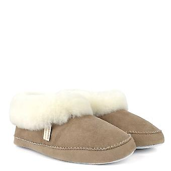 Shepherd of Sweden Emmy Stone And White Sheepskin Slipper Boot
