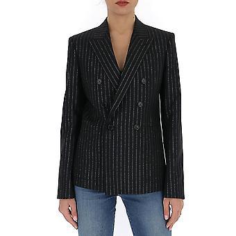 Saint Laurent 611054y1a901081 Women's Black Linen Blazer