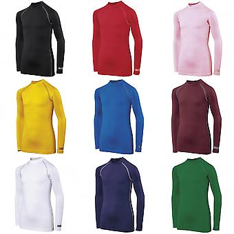 Rhino Childrens Boys Long Sleeve Thermal Underwear Base Layer Vest Top