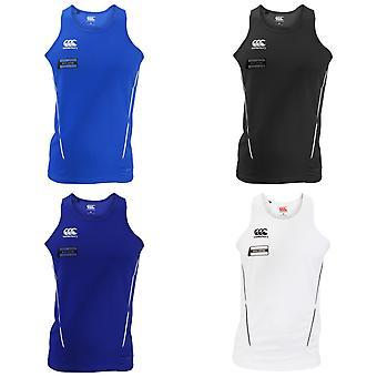 Canterbury Mens Team Dry Sleeveless Singlet Sports Vest