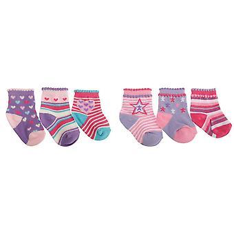 Baby jenter bomull rikt mønstrede sokker (pakke med 3)