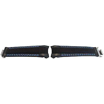 Rolex gmt ostras estilo pantorrilla negra lisa tela reloj híbrido correa de reloj híbrido de 20 mm wcp14523