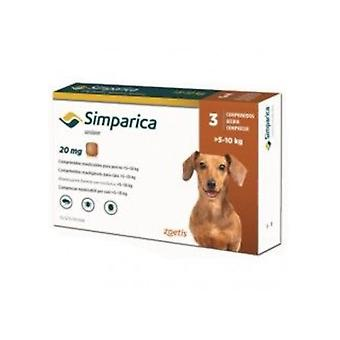 Simparica 20mg Chewable Tablets For Dogs >5-10 kg (11-22 lbs)