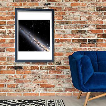 Hubble-Teleskop - NGC 891 Nordteil Poster Print Giclee