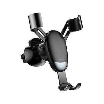 ベースメタル重力リンケージオートロック車は、iphone xiaomi携帯電話用のエアベントホルダーをマウント