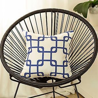 """18&x18"""" Modré geometrické čtverce Dekorativní polštářový kryt"""