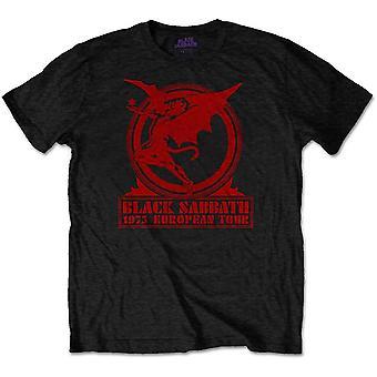 Black Sabbath Europe 1975 Officieel T-shirt