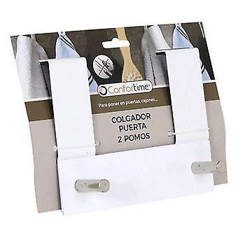 Stojak na wieszaki do drzwi Confortime (2 wieszaki) (17 X 13,4 x 8,5 cm)