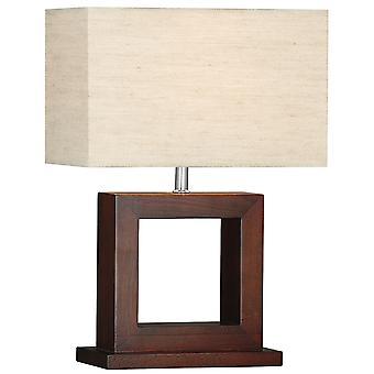 Kosmopolitische dunklen Holz Tischlampe mit Schirm - Searchlight 9000