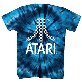 Atari Blue Tie Geverfd T-shirt