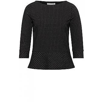 Bianca Black Check Top