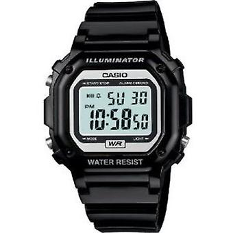 F108WHC-1ACF, Casio Brillante Reloj Digital Negro Brillante
