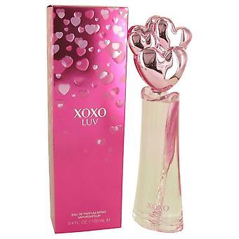 Xoxo Luv Eau De Parfum Spray By Victory International 3.4 oz Eau De Parfum Spray