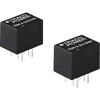 TracoPower TDN 5-2422WI DC / DC محول (الطباعة) 24 V DC 12 V DC، -12 V DC 210 mA 5 W No. من النواتج: 2 x