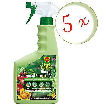 Sparset: 5 x COMPO Duaxo® Universal Mushroom-Free AF, 750 ml