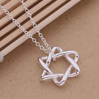 Weiche Kurven Stern von David Sterling Silber Halskette
