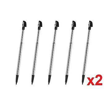 10x Wii U Black Metal Retractable Stylus Touch Pen for Nintendo