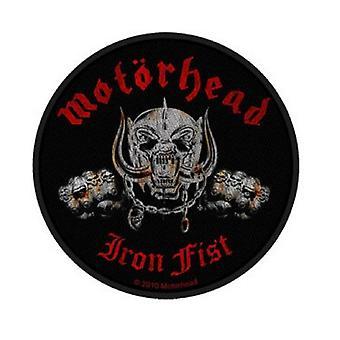 Motorhead Patch Iron Fist Skull bande logo nouvelle circulaire officielle tissé (10cm)