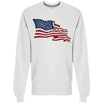 Bandeira dos EUA está agitando moletom Men's -Imagem por Shutterstock