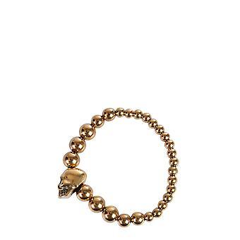 Alexander Mcqueen 554504j160g0448 Männer's Gold Messing Armband