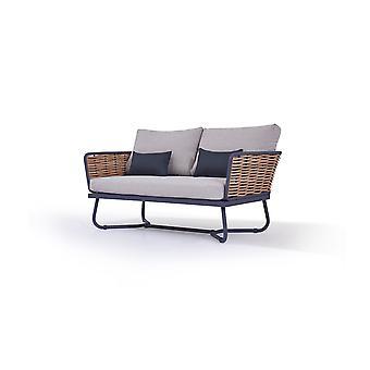 Polyrattan Sofa Astra 145 cm - méz