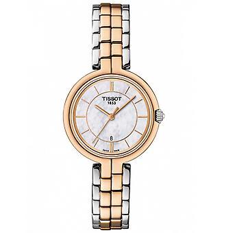 Tissot T094.210.22.111.00 Flamingo Hopea ja Rose Gold Ladies Watch