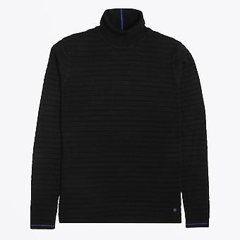 Sininen teollisuus - kuvioitu korkea kaula neuloa - musta