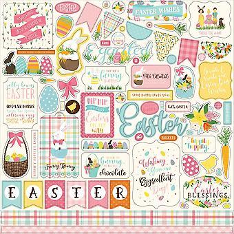 Echo Park I Love Easter 12x12 pulgadas elemento pegatina