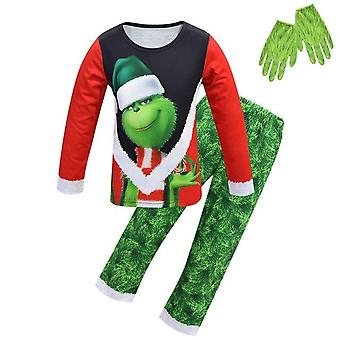 Christmas Grinch Pajamas And Gloves