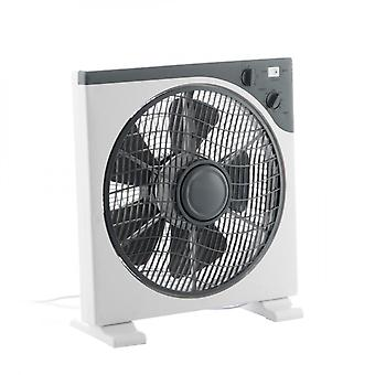 Compact Floor Fan with Rotating Grille