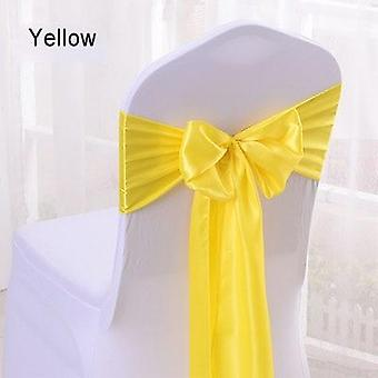 25pcs Satin Bow Tie Chair Sash Band For Banquet Wedding Party Decoration