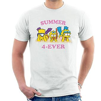 The Simpsons Summer 4 Ever Men's T-Shirt