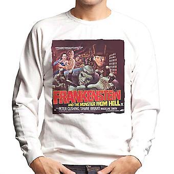 Hammer Horror Films Frankenstein Monster From Hell Red Men's Sweatshirt
