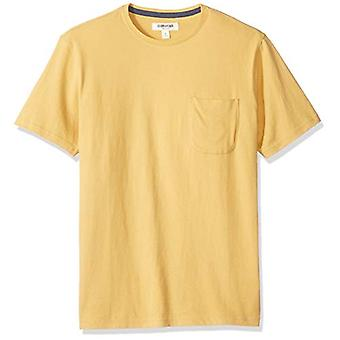 Goodthreads Men's Short-Sleeve Sueded Jersey Crewneck Pocket T-Shirt, gelb,...