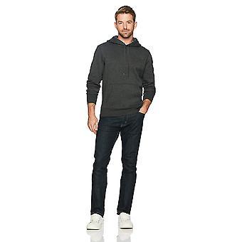 Essentials Men's Hooded Fleece Sweatshirt, Charcoal Heather, Medium