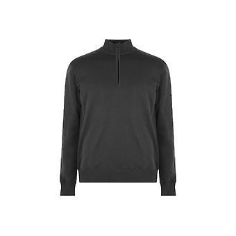 Slazenger gevoerd zip sweatshirt mens
