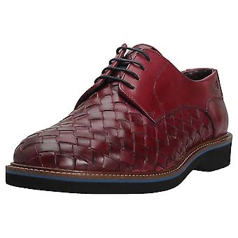 London Brogues Branson Woven Mens Casual Shoes in Plum