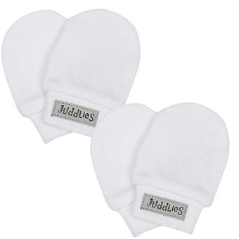 Juddlies White Scratch Mitts 2 Pack