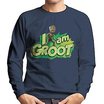 Marvel Guardians Of The Galaxy Vol 2 I Am Groot Leaf Men's Sweatshirt