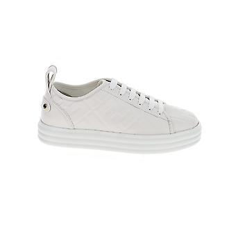 Fendi 8e8017aadsf10wi Women's White Leather Sneakers